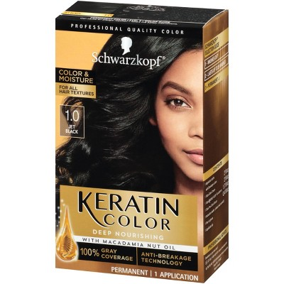 Schwarzkopf Keratin Color Jet Black Permanent Hair Color - 6.2oz