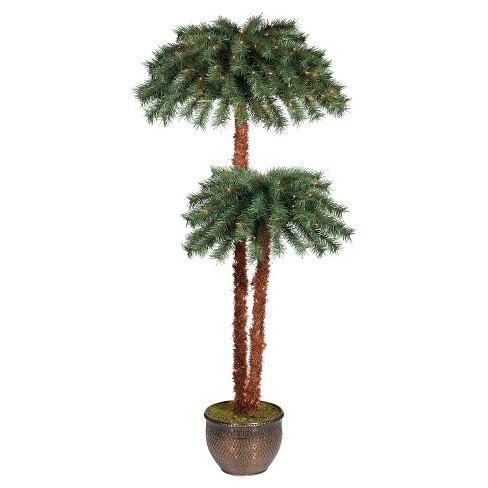 6ft Prelit Artificial Potted Slim Palm Tree Clear Lights - Wondershop™ - 6ft Prelit Artificial Potted Slim Palm Tree Clear... : Target