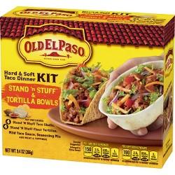 Old El Paso Stand N' Stuff Hard & Soft Taco Dinner Kit 9.4 oz