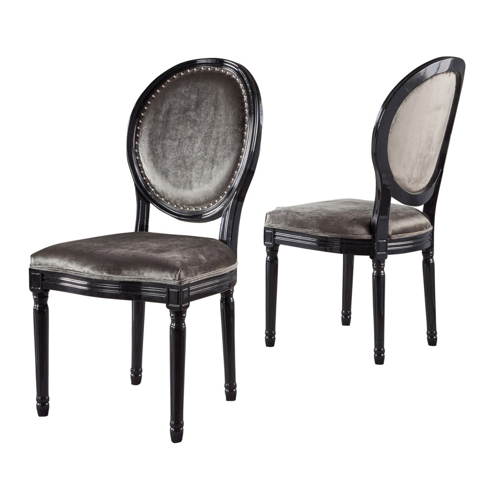 Leroy Set of 2 Traditional Dining Chair Gray - Christopher Knight Home