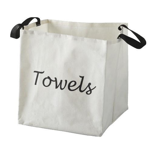 Lakeside Canvas Storage Laundry Bag with Fabric Handles - White - image 1 of 1