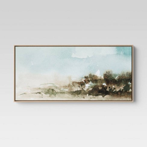 """47"""" X 24"""" Watercolor Landscape Framed Canvas - Project 62™ - image 1 of 3"""