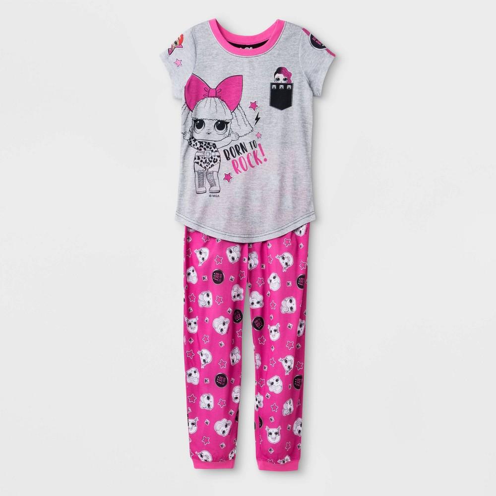 Image of Girls' L.O.L. Surprise! 2pc Pajama Set - Gray L, Girl's, Size: Large