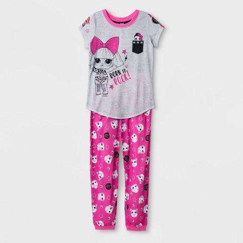 Girls' L.O.L. Surprise! 2pc Pajama Set - Gray - image 1 of 2