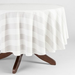 Gray Stripe Tablecloth - Threshold™
