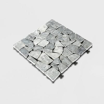 6pk Natural Travertine Stone Deck Tile - Courtyard Casual