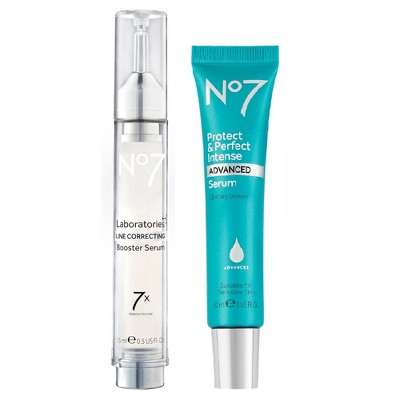 No7 Protect & Perfect Intense Advanced Serum & Laboratories Line Correcting Booster Serum Duo - 2ct