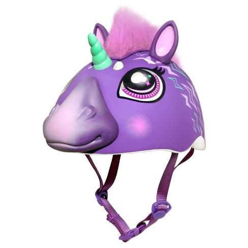 Raskullz 3D Electric Unicorn Child Helmet - Purple
