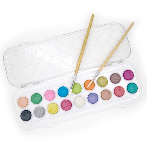 kid made modern watercolor paints with pad and 2 brushes target