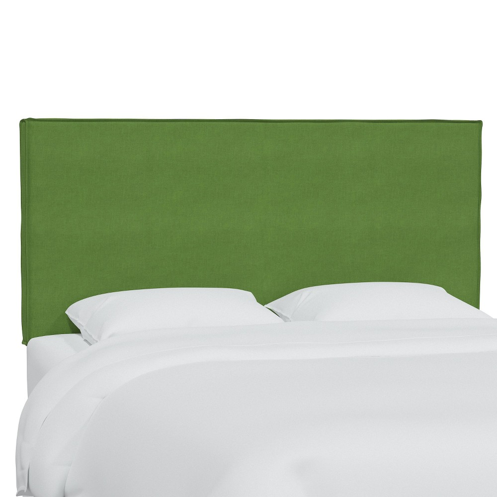 King Linen Slipcover Headboard Kelly Green Skyline Furniture