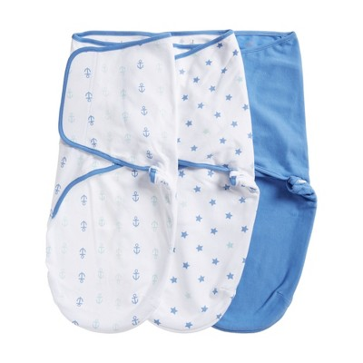 Aden by Aden + Anais Swaddle Wraps 3pk - Ocean Breeze - Blue