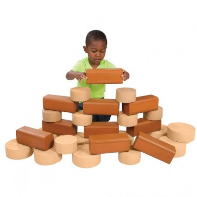 Kaplan Early Learning Timber and Crosscut Builders - Set of 30