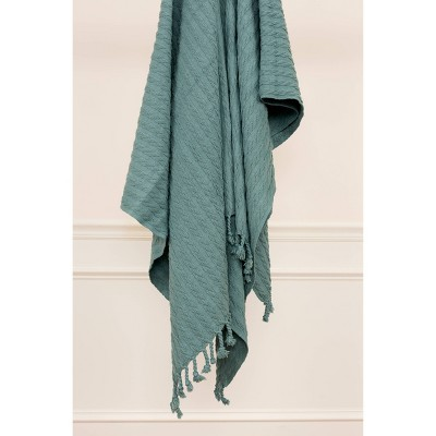 """50""""x60"""" Textured Striped Throw Blanket - Rizzy Home"""