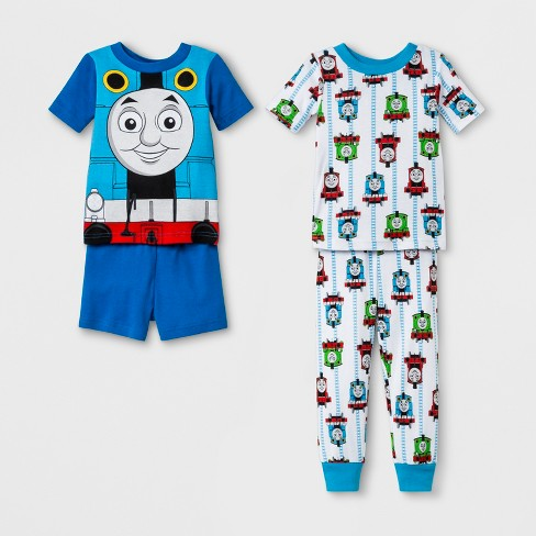 be2ecb9d5e Toddler Boys  Thomas   Friends 4pc Cotton Pajama Set - Blue 2T   Target