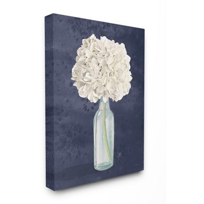 Stupell Industries White Floral Bouquet in Bottle Blue Painting