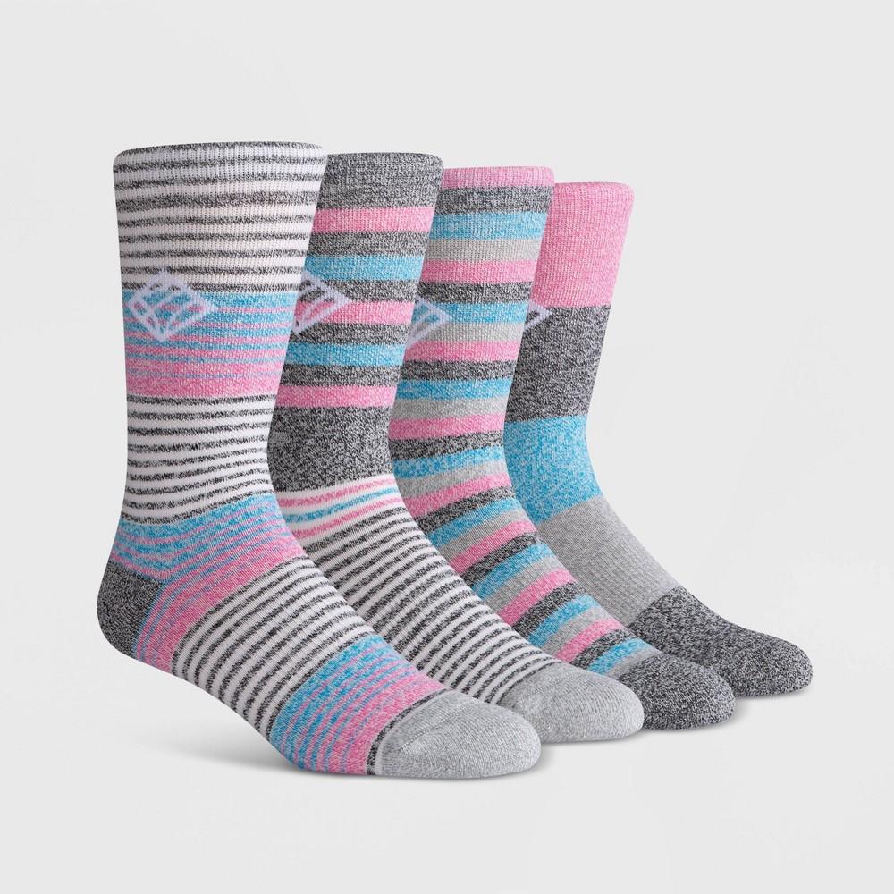 Image of PKWY Men's 1234 2pk Crew Socks - Black/Gray/Blue L, Men's, Size: Small, White Black