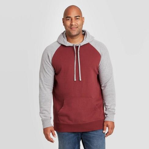 Men's Big & Tall Regular Fit Fleece Pullover Hoodie Sweatshirt - Goodfellow & Co™ Red - image 1 of 3