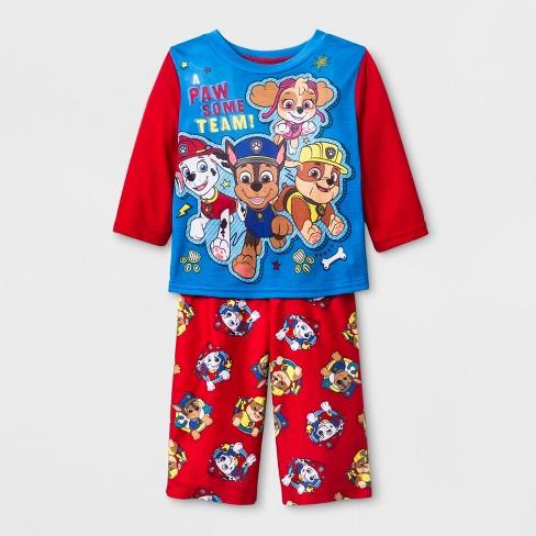 65be53184 Baby Boys  PAW Patrol 2pc Poly Pajama Set - Red 24M   Target