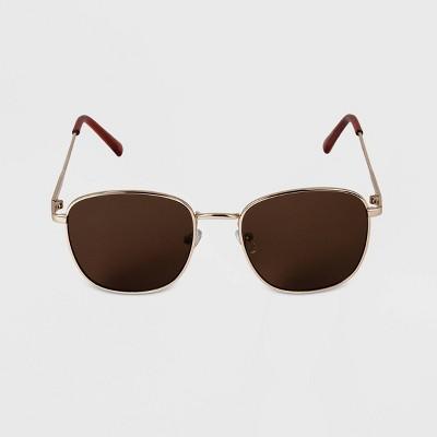Men's Rectangle Square Metal Sunglasses - Goodfellow & Co™ Gold