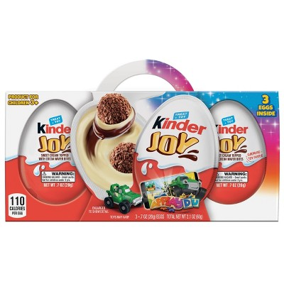 Kinder Joy Sweet Cream Topped with Cocoa Wafer Bites Chocolate Treat + Toy - 2.1oz/3pk