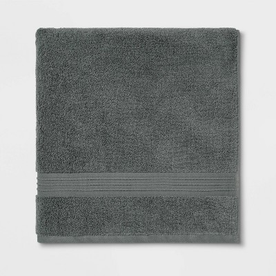 Spa Bath Sheet Dark Gray - Threshold Signature™