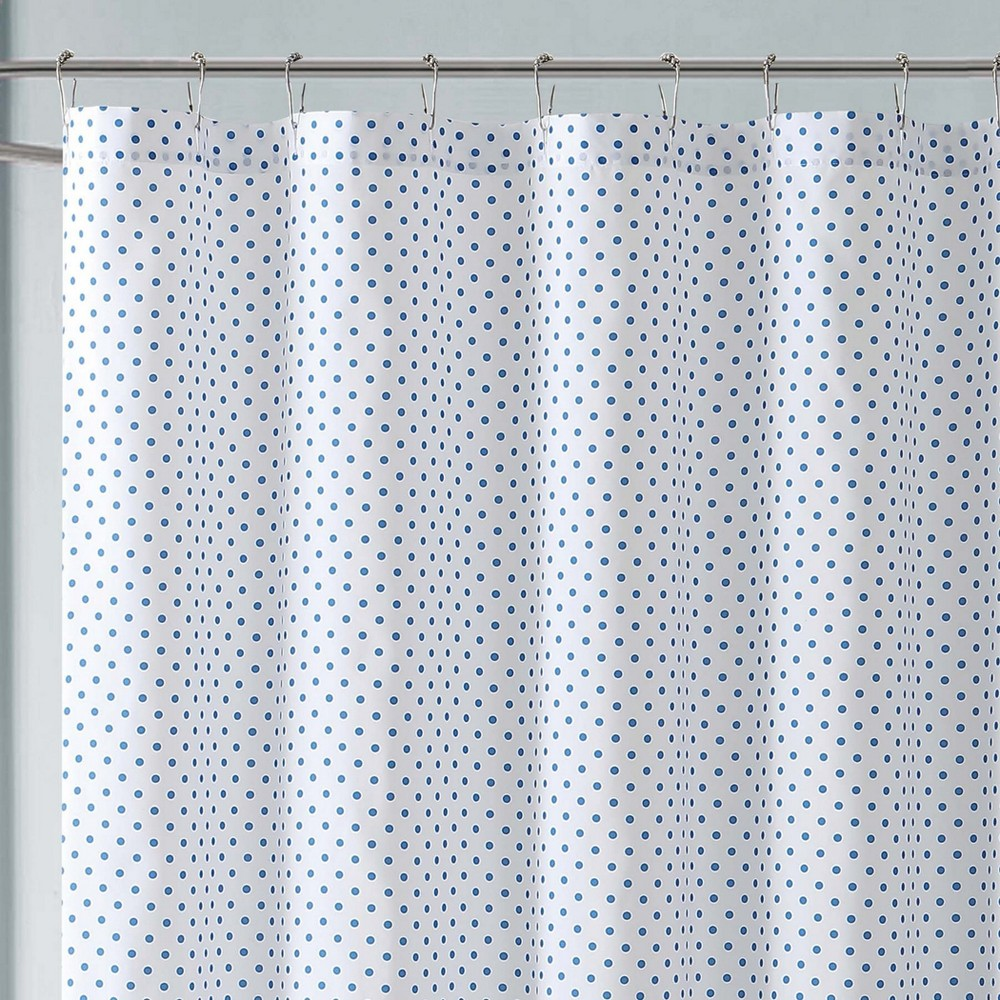 Image of Anytime Dot Shower Curtain Blue - My World