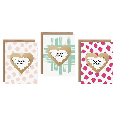 Inklings Paperie® Baby Scratch-off Greeting Cards - 3 ct - image 1 of 10