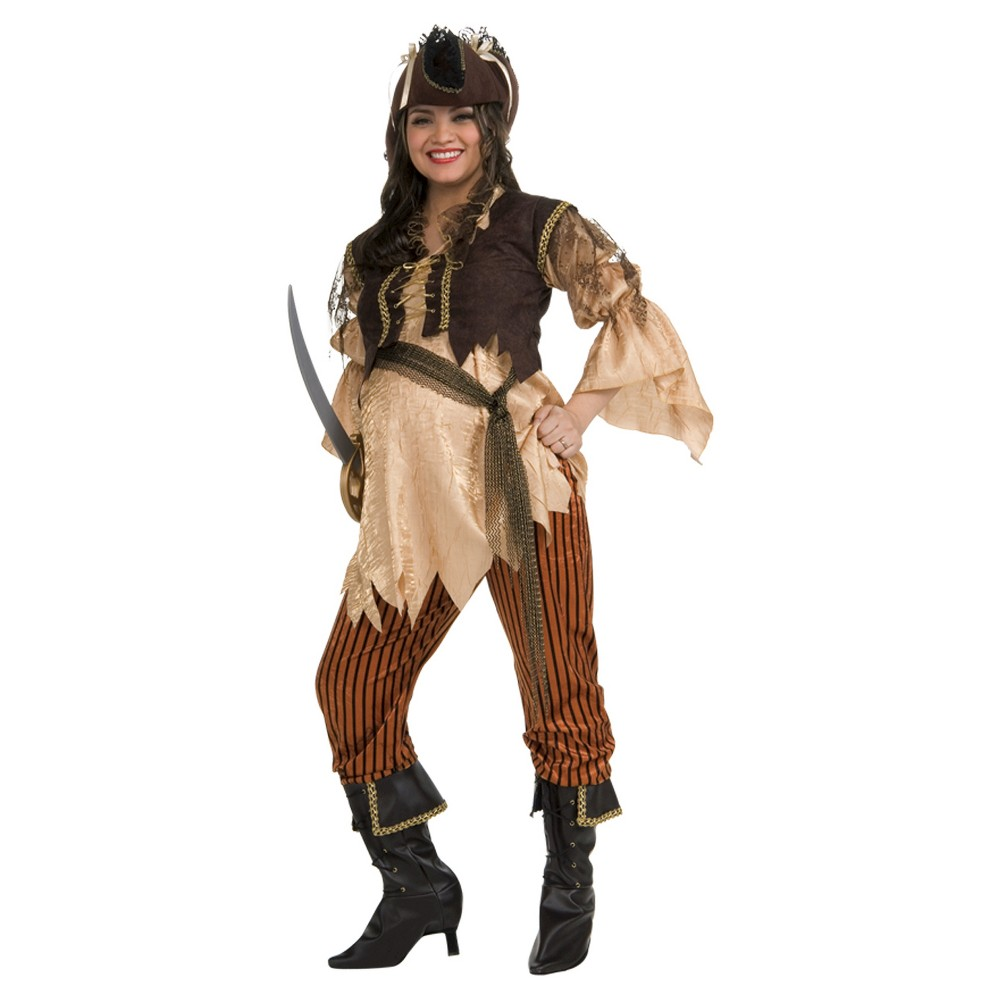 Image of Halloween Maternity Pirate Queen Costume, Women's, Size: One Size, MultiColored