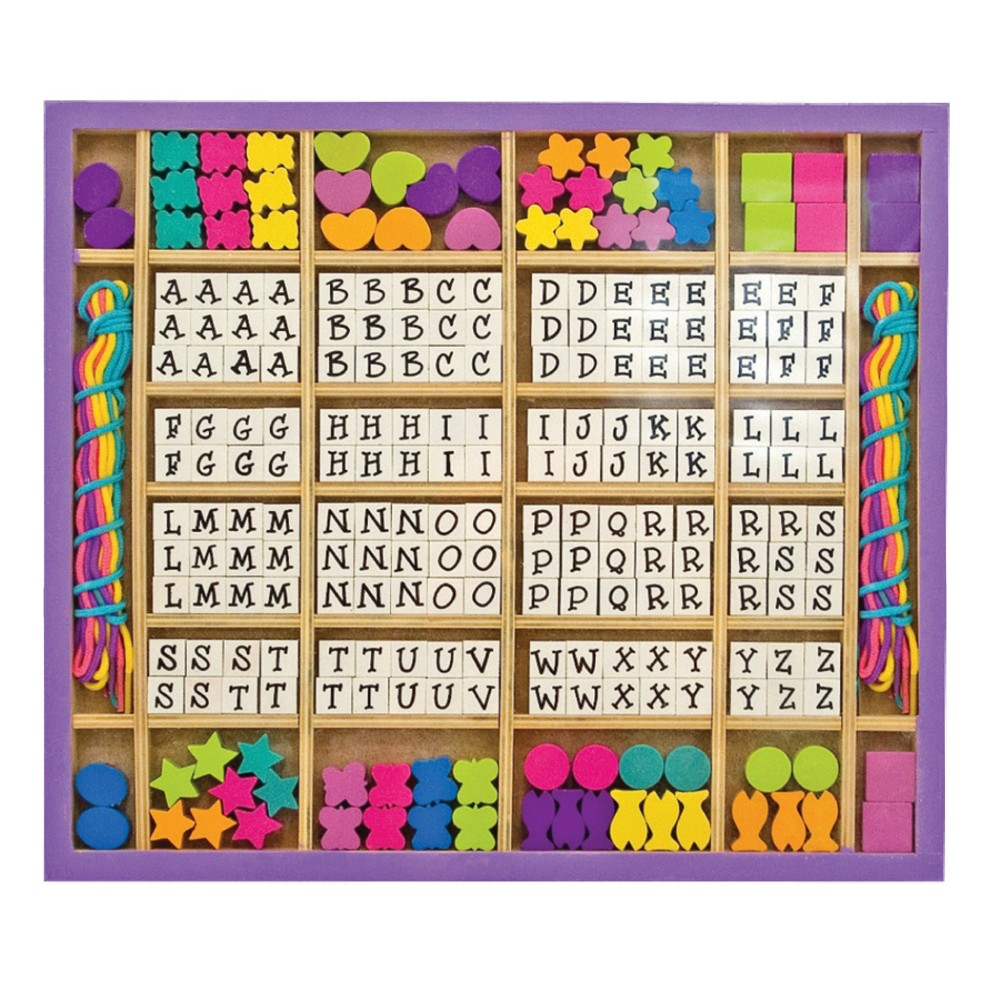 Melissa 38 Doug Deluxe Wooden Stringing Beads With 200 Beads And 8 Laces For Jewelry Making