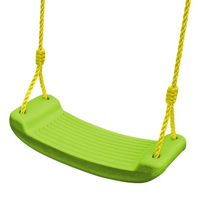 Swing-N-Slide Plastic Molded Swing Seat with Rope - Green
