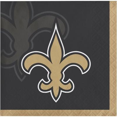 48ct New Orleans Saints Football Beverage Napkins