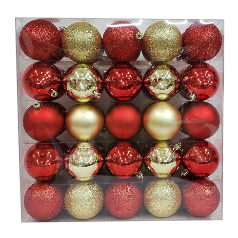 50ct Shatterproof Ornament Set Red/Gold - Wondershop™ - image 1 of 1