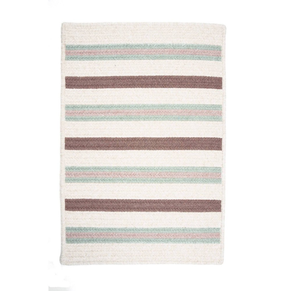 Uptown Stripe Braided Area Rug Green