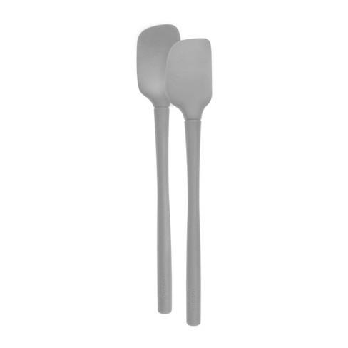 Tovolo Flex-Core All Silicone Mini Spatula & Spoonula (Set of 2) Oyster Gray - image 1 of 3