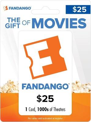 Fandango Movie Gift Card $25