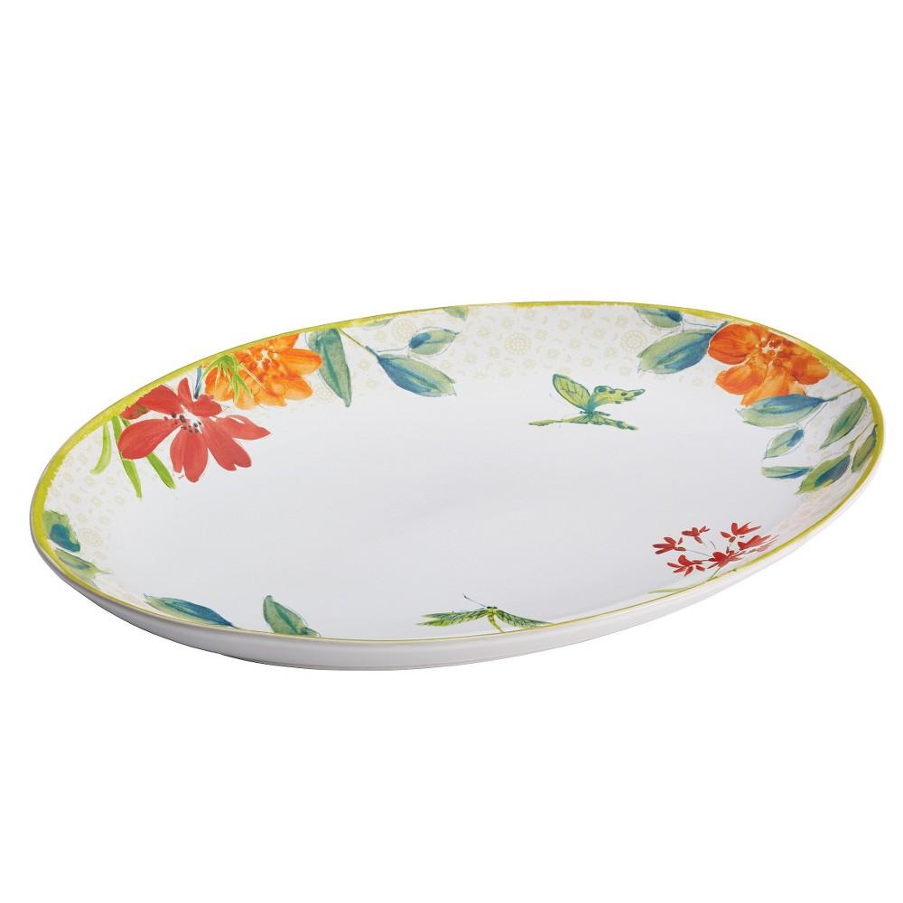"Image of ""Bonjour Al Fresco Oval Platter (9.75"""" x 14"""" ), Multi-Colored"""