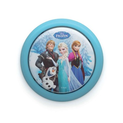 Philips Disney Frozen Elsa Anna Olaf Battery Powered LED Push Touch Night Light