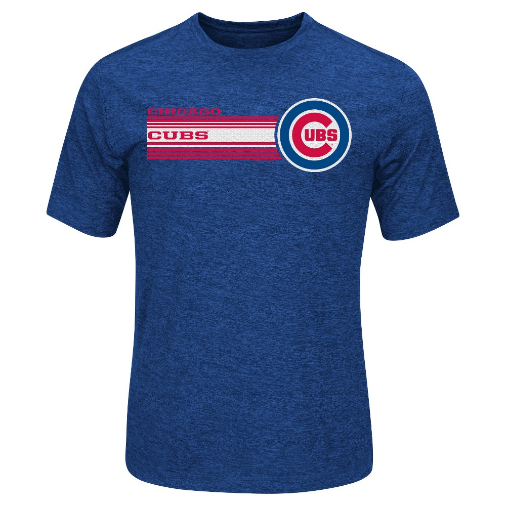 Chicago Cubs Men's Heathered Performance T-Shirt S, Blue