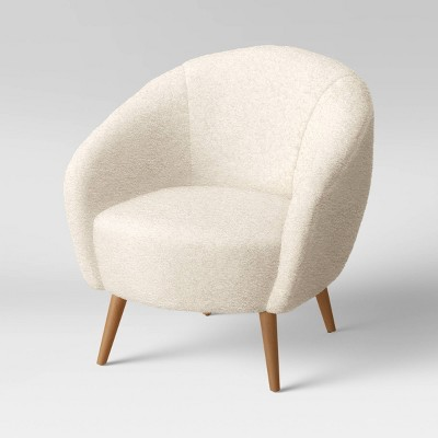 Odilia Rounded Sherpa Accent Chair Cream - Opalhouse™