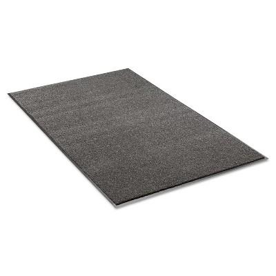 3'x5' Rectangle Solid Floor Mat Black,Gray - Crown