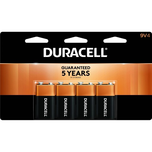 Duracell Coppertop 9V Batteries - 4 Pack Alkaline Battery - image 1 of 2