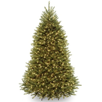 7ft National Christmas Tree Company Full Pre-Lit Dunhill Fir Hinged Artificial Christmas Tree with 700 Clear Lights
