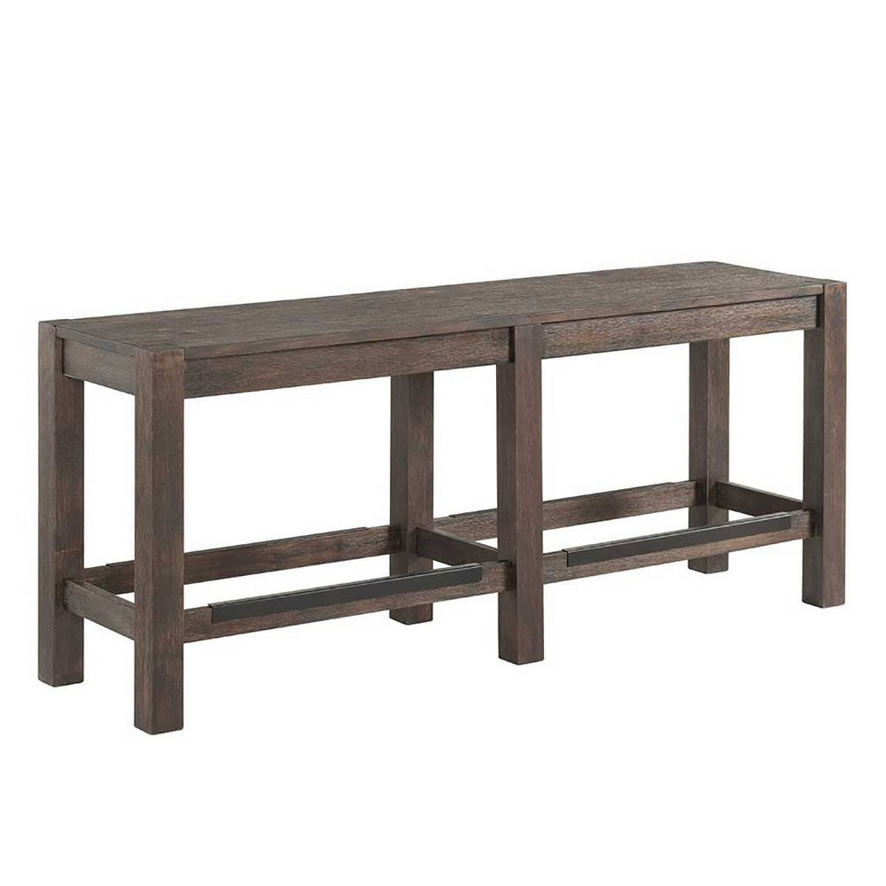 """Image of """"53"""""""" Salem Backless Counter Height Bench Brushed Cocoa - Intercon"""""""