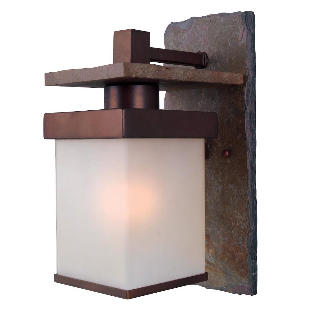 Kenroy Home Boulder 1 light Med. Wall Lantern, Brown