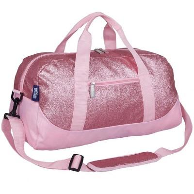 Wildkin Pink Glitter Overnighter Duffel Bag