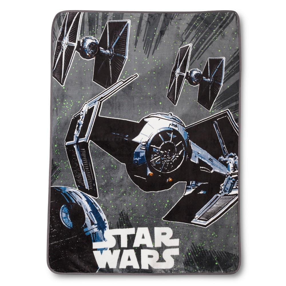 Star Wars Classic Tie Fighter Throw - Dark Gray (50x60)
