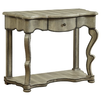 Crocodile Textured Console Table   Ivory   Treasure Trove : Target