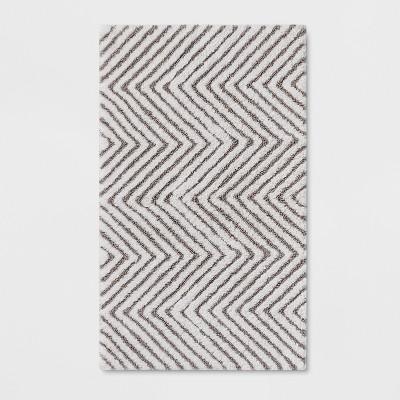 20 x32  Herringbone Accent Bath Rug Seagull Gray - Threshold™