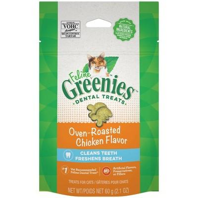Greenies Oven-Roasted Chicken Flavor Dental Cat Treats
