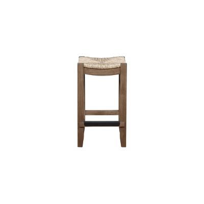 "26"" Davenport Wood Counter Height Barstool Light Amber - Bolton Furniture"